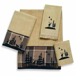 Woodlands Silhouette - Bath and Hand Towel Set