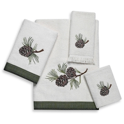 Pine Cone Branch Towel Set - Hand and Bath