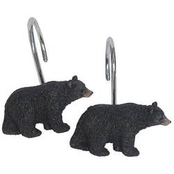 Black Bear Lodge Shower Curtain Hooks