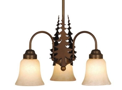 Rustic 3 Light Chandelier