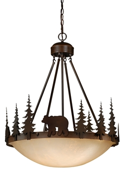 Rustic Bozeman 4 Light 24