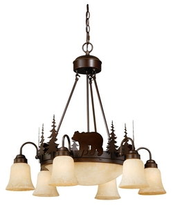 Rustic Bozeman 9 Light Chandelier