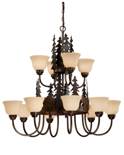 Rustic Bozeman 12 Light Chandelier