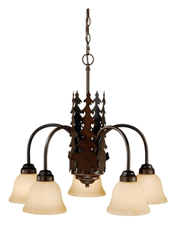 Bozeman 5 Light Chandelier - Burnished Bronze