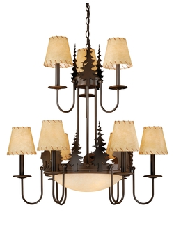 Bozeman 12 Light Chandelier with Shades
