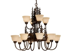 Rustic Bryce 12 Light Chandelier