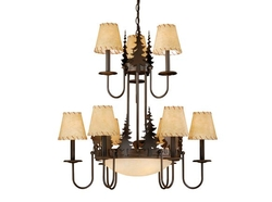 Bryce 12 Light Chandelier with Shades