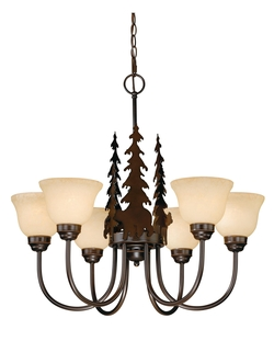 Rustic Bryce 6 Light Chandelier