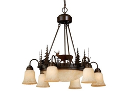 Bryce 9 Light Chandelier - Burnished Bronze