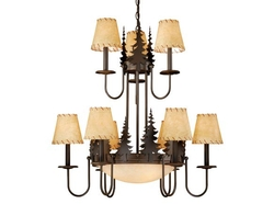 Yosemite 12 Light Chandelier with Shades