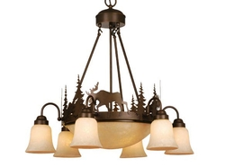 Yellowstone 9 Light Chandelier - Burnished Bronze
