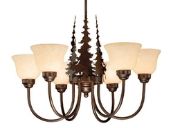 Rustic Yellowstone 6 Light Chandelier