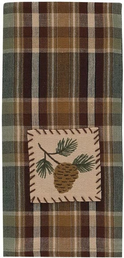 Wood River Decorative Dish Towel