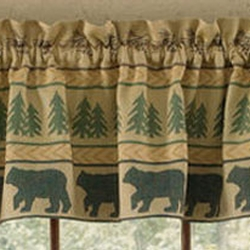 Bear Tracks Lined Valance 60