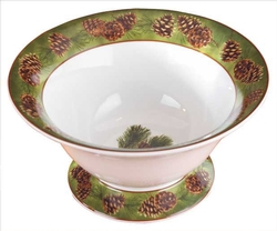 Pinecone Footed Serving Bowl