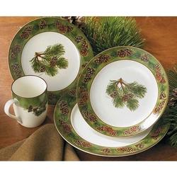 Pinecone Dinnerware 16 Pc Set & Cabin Rustic Lodge Decor Dinnerware | Dinnerware | Cabin 9 Design