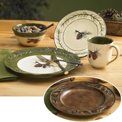 Pinecone Dinnerware 16 Pc Set