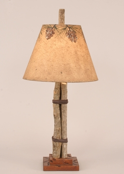 Twig & Leather Accent Lamp