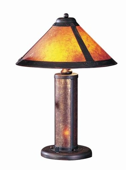 Craftsman/Mission Style Table Lamp With Night Light