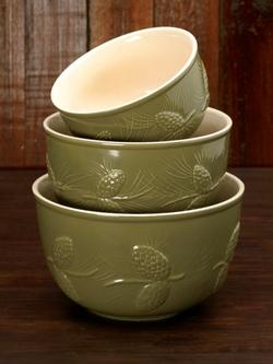 Pinecone Ceramic Bowls