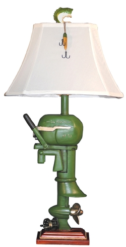 Vintage Boat Motor Table Lamp - 32