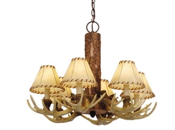 Lodge 6 Light Faux Antler Chandelier