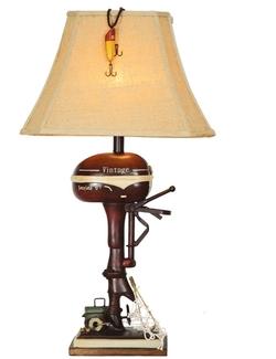 Vintage Boat Motor Lamp - 32