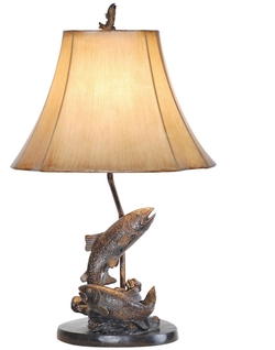Trout Fish Table Lamp - 25