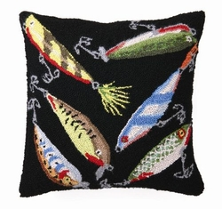 Lures Hooked Pillow - 16