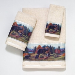 Black Bear Lodge Bath Towels