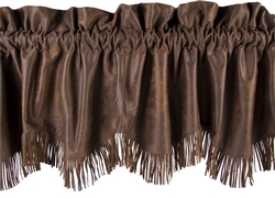 Faux Leather Fringed Valance