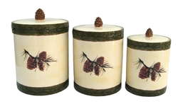 Pinecone Canister Set - 3 pc.