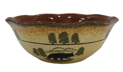 Black Bear Lodge Serving Bowl