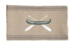 Embroidered Green Canoe Towel
