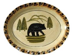 Black Bear Lodge Serving Platter  sc 1 st  Cabin 9 Design & Cabin Rustic Lodge Decor Dinnerware | Dinnerware | Cabin 9 Design
