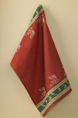 Fish Camp Jacquard Towel