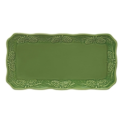 Pinecone Green Serving Tray