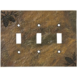 Rustic Pinecone Switch Plates