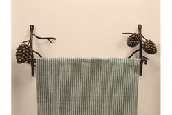 Pine Cone Towel Bar - 18