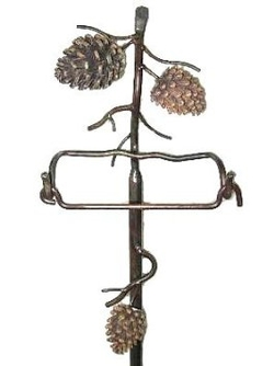 Pine Cone Free Standing Toilet Paper Holder - 31