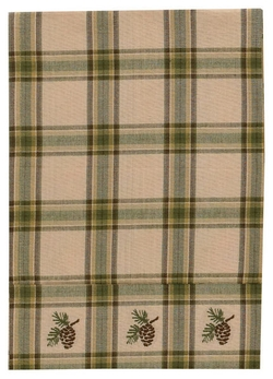 Pine Lodge Boarder Dish Towel