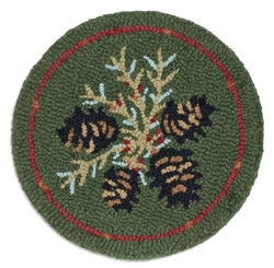 Diamond Pinecone Hooked Chair Pad 14