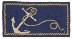 Anchor Hooked Rug 2'x 4'