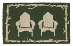 Green Adirondack Chair Rug