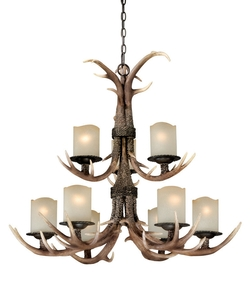 Yoho 9-Light Chandelier - 36W in. Black Walnut