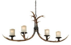Yoho 4-Light Chandelier - 52.5W in. Black Walnut