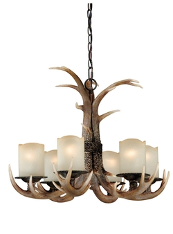 Yoho 6-Light Chandelier Black Walnut-29.5