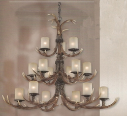Yoho 15 Light Chandelier - 3 tier -  Black Walnut