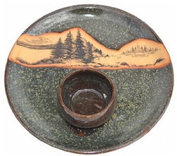 Mountain Scene Chip & Dip Set