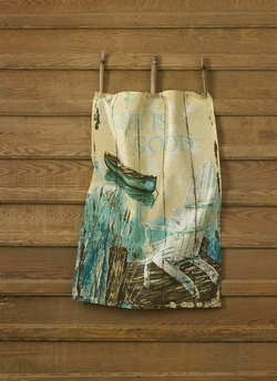 Lake House Printed Dishtowel